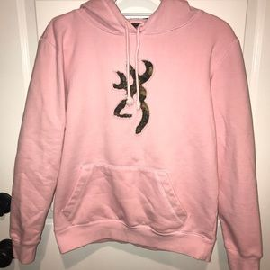 Browning Pink And Camo Sweatshirt Size Medium